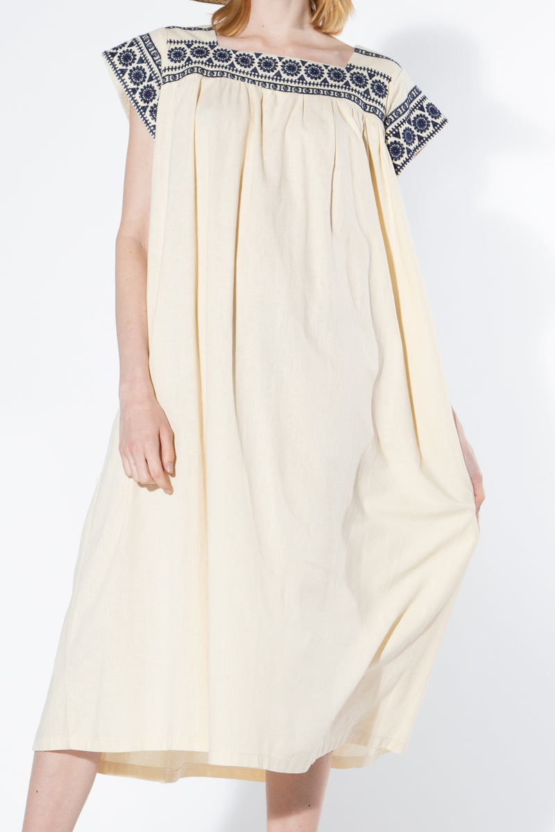Linen Embroidery Dress - Shop Beulah Style