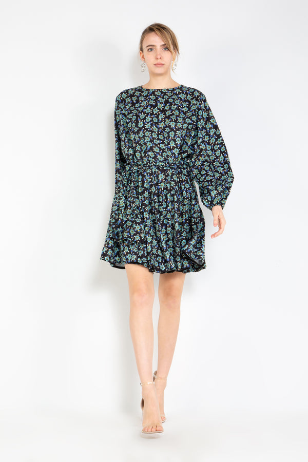 Bishop Sleeve Keyhole Dress - Shop Beulah Style