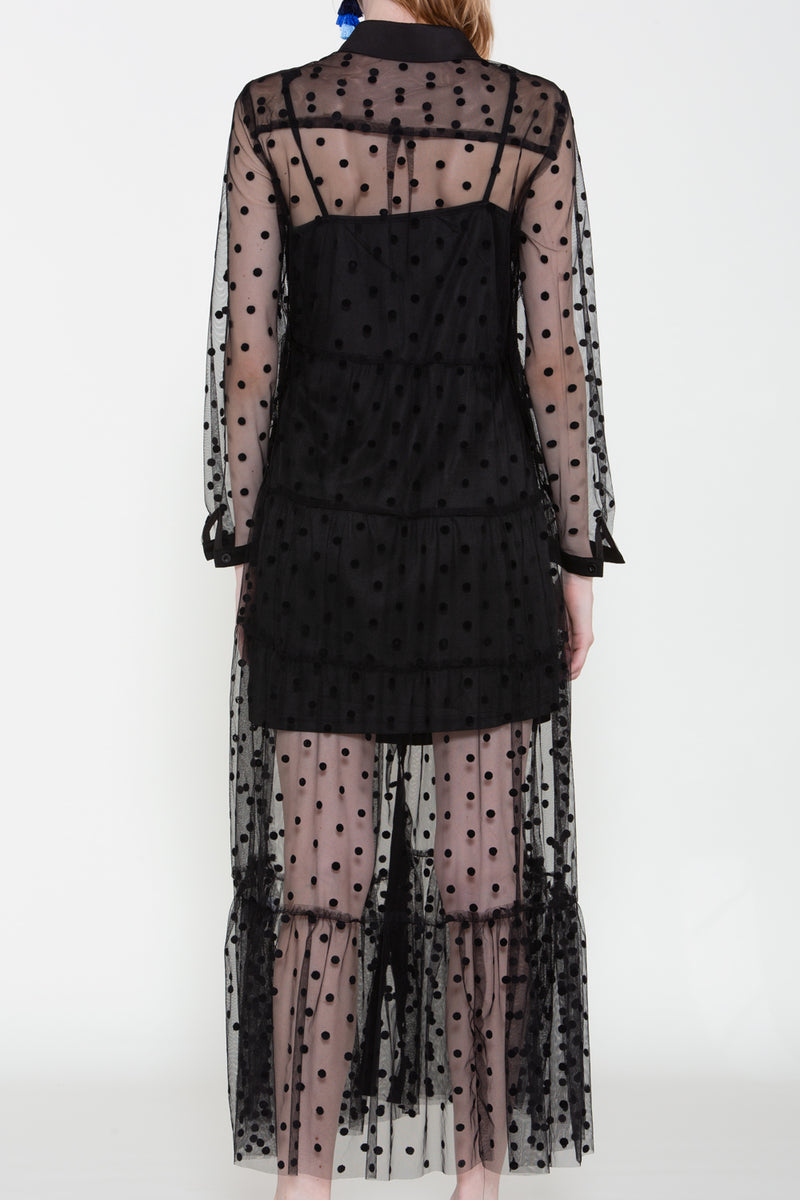 Mesh Polka Dot Dress - Shop Beulah Style