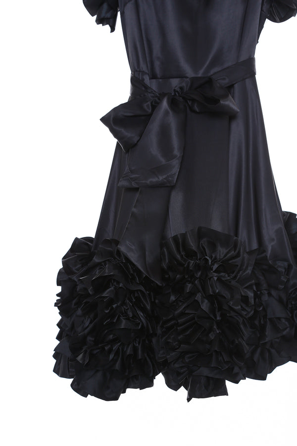 Satin Ruffle Dress - Shop Beulah Style