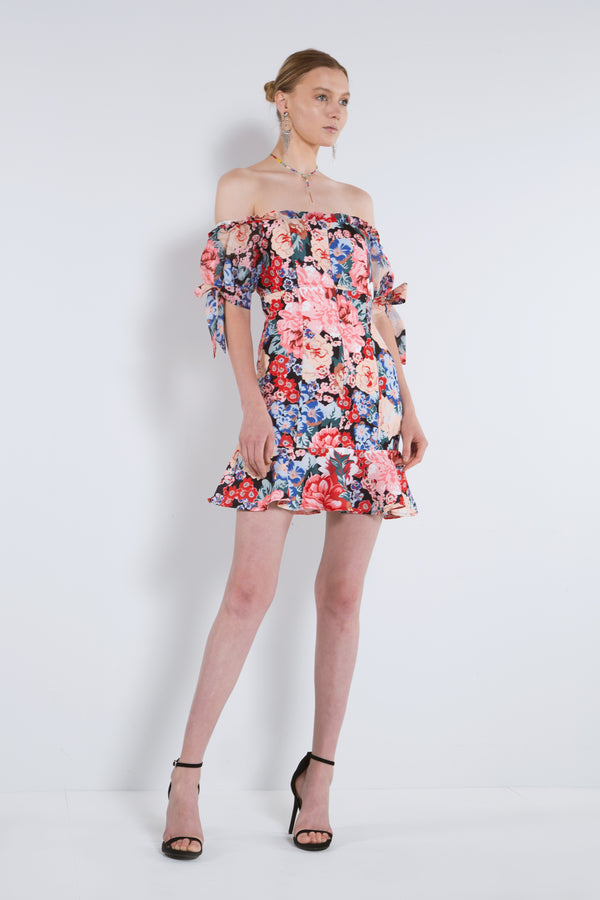 Ruffled Hem Mini Dress - Shop Beulah Style