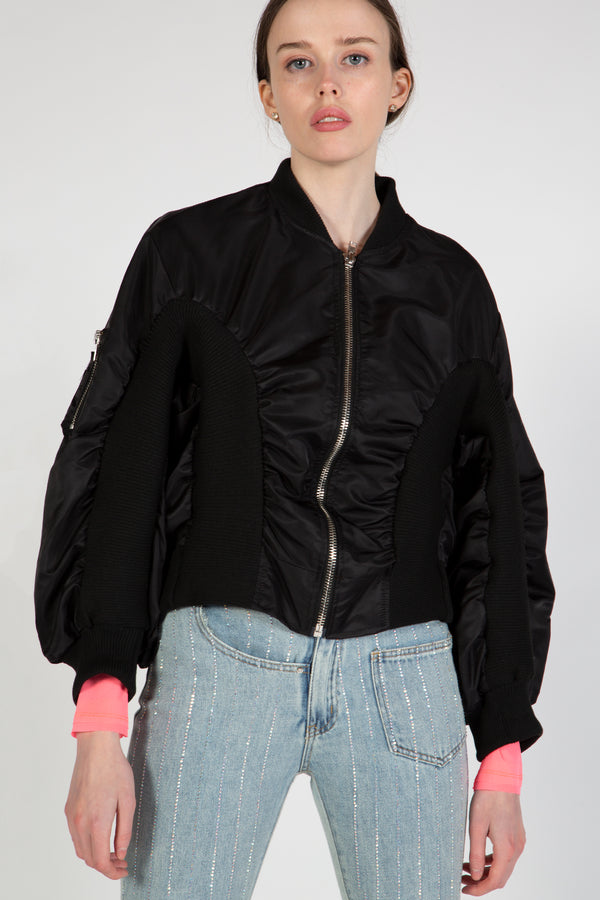 Nylon Bomber Jacket - Shop Beulah Style