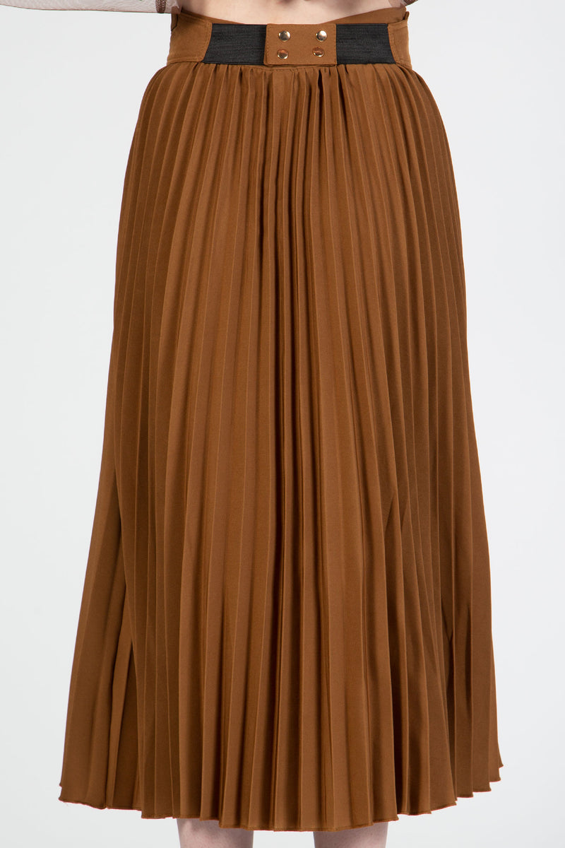 Pleated Midi Skirt - Shop Beulah Style
