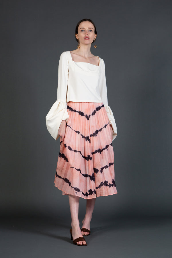 Tie-Dye Pleated Skirt - Shop Beulah Style