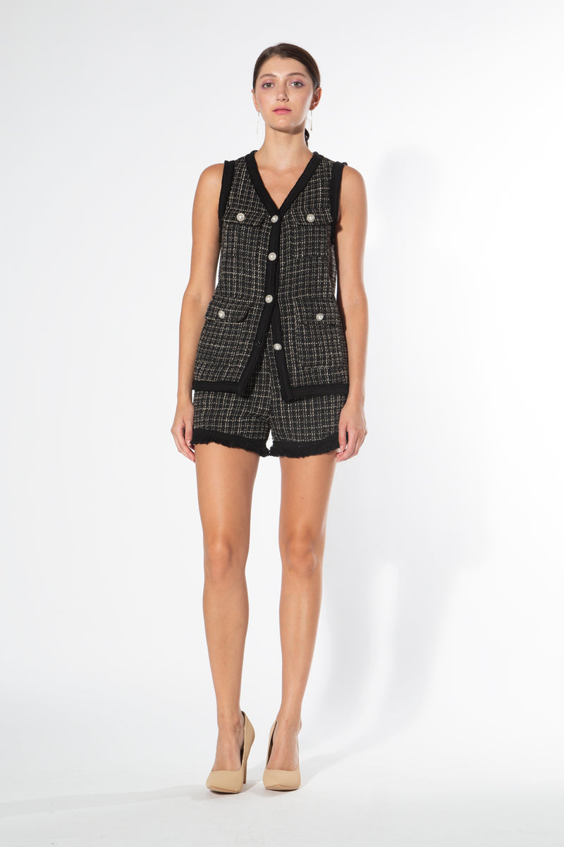 Sleeveless Tweed Set - Shop Beulah Style
