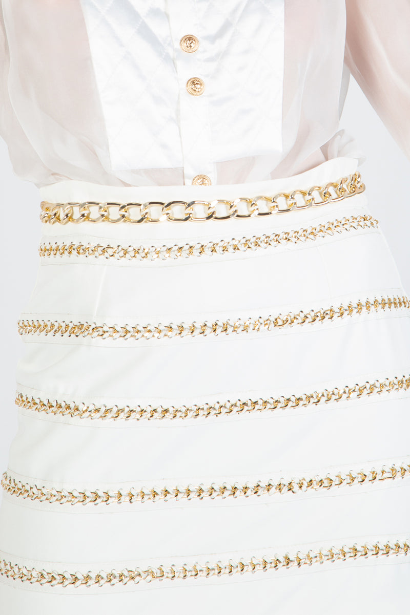 Gold Chain & Quilted Set