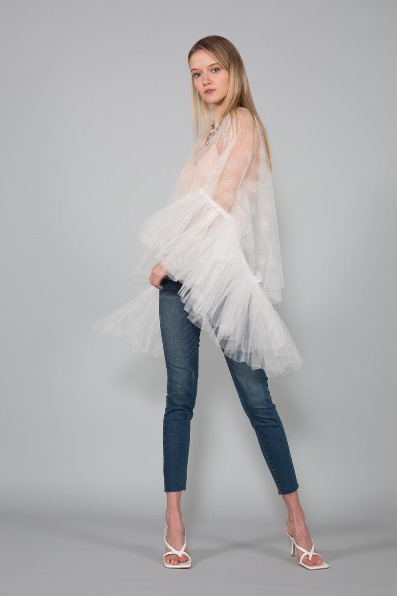 Ruffled Sleeve Top - Shop Beulah Style