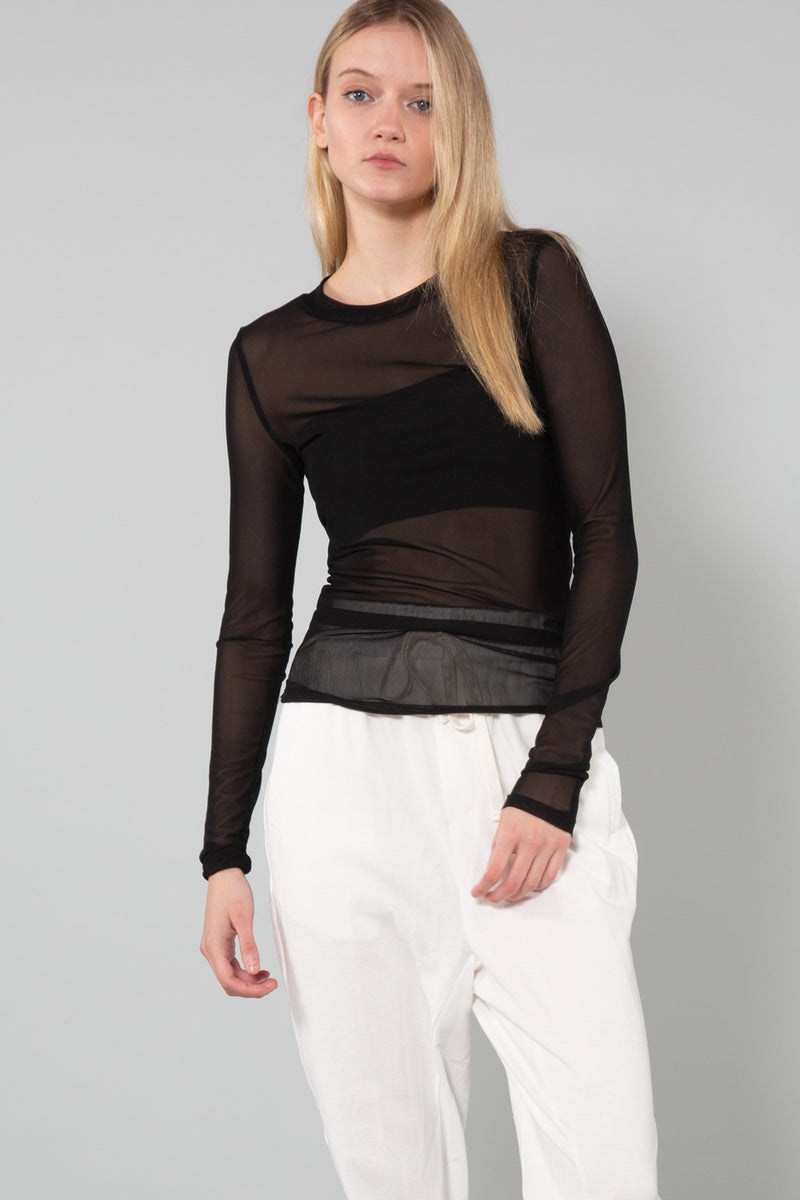 Round Neck Mesh Top - Shop Beulah Style