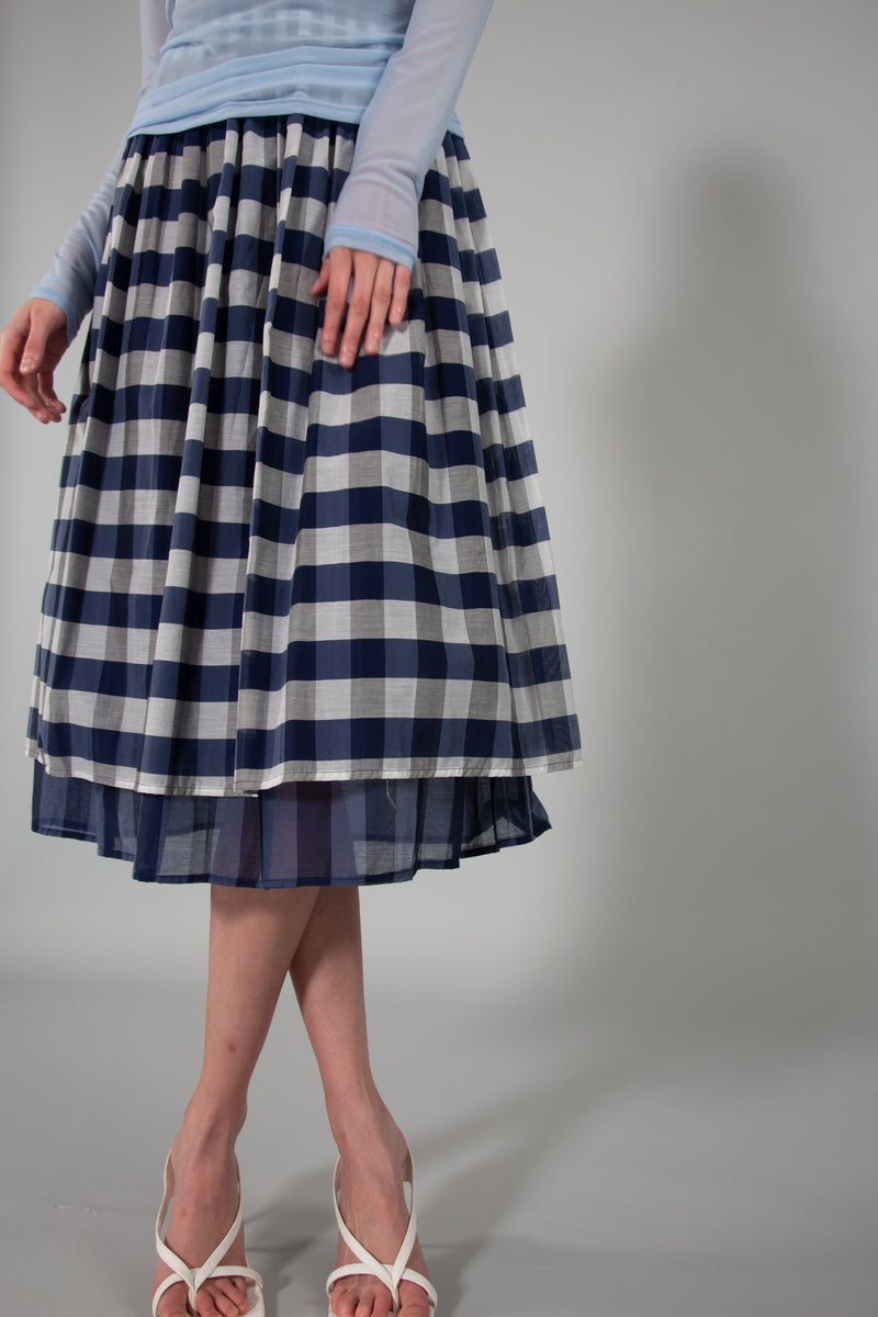 Plaid Midi Skirt With Full Lining - Shop Beulah Style