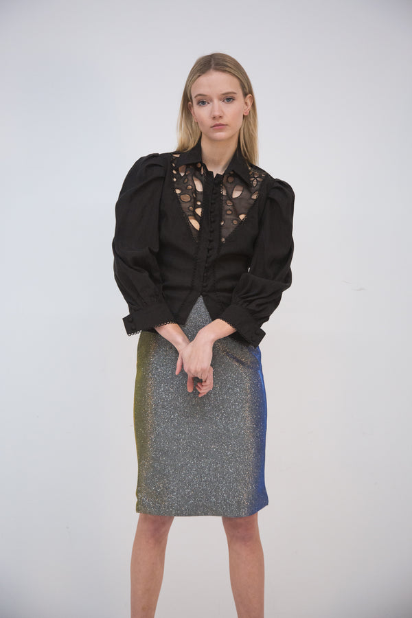Metallic Pencil Skirt - Shop Beulah Style