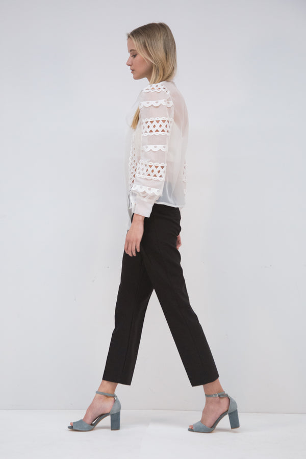 Elastic Band Fitted Pants - Shop Beulah Style
