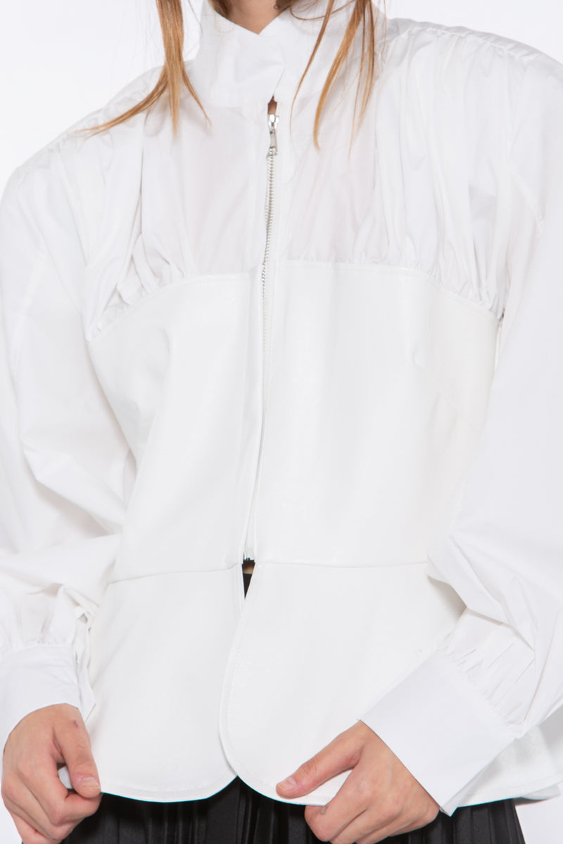 High Collar Zip Up Top - Shop Beulah Style