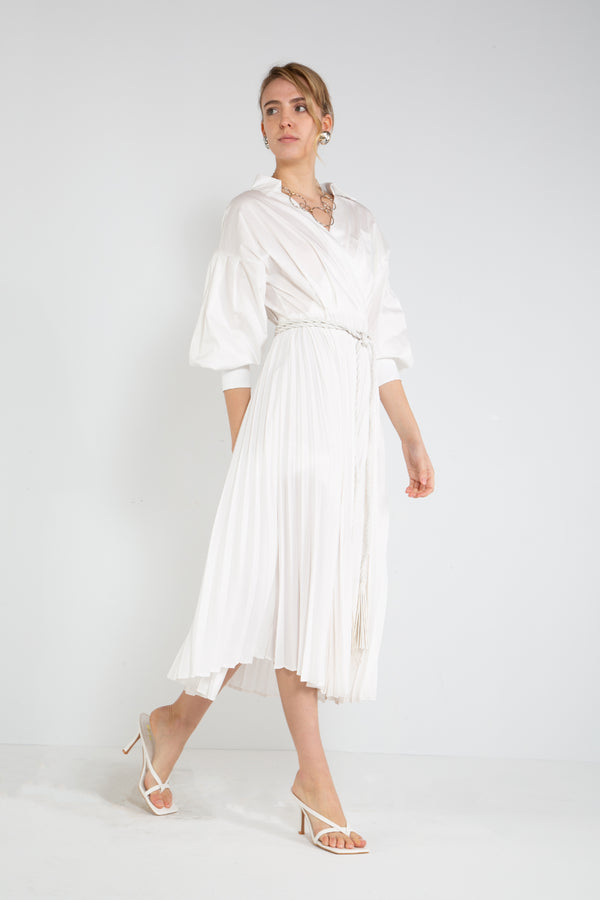Surplice Neckline Pleated Maxi Dress - Shop Beulah Style