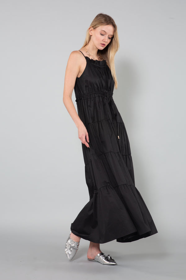 Tiered Maxi Dress with Drawstring Waist - Shop Beulah Style
