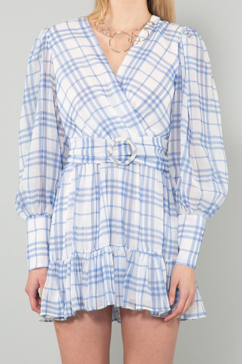 Sheer Checked Patterned Midi Dress - Shop Beulah Style