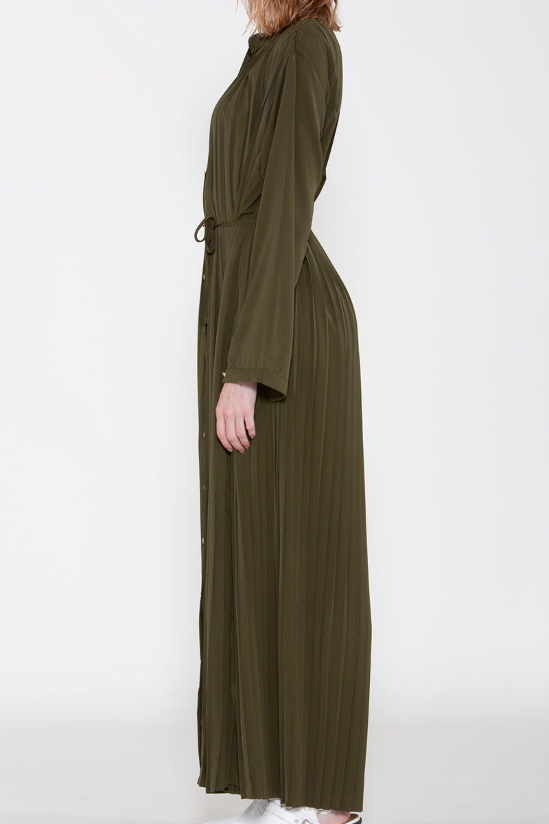 Relaxed Fit Pleated Maxi Dress - Shop Beulah Style