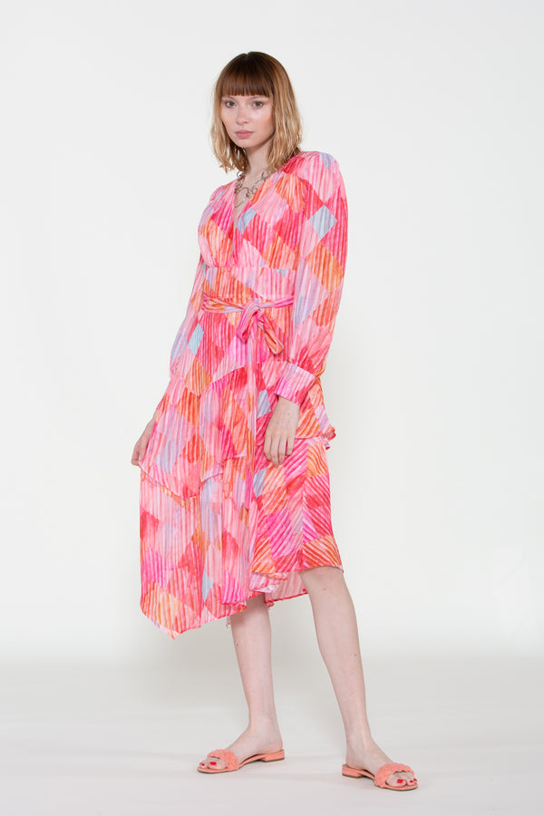 Tiered Chiffon Midi Dress - Shop Beulah Style
