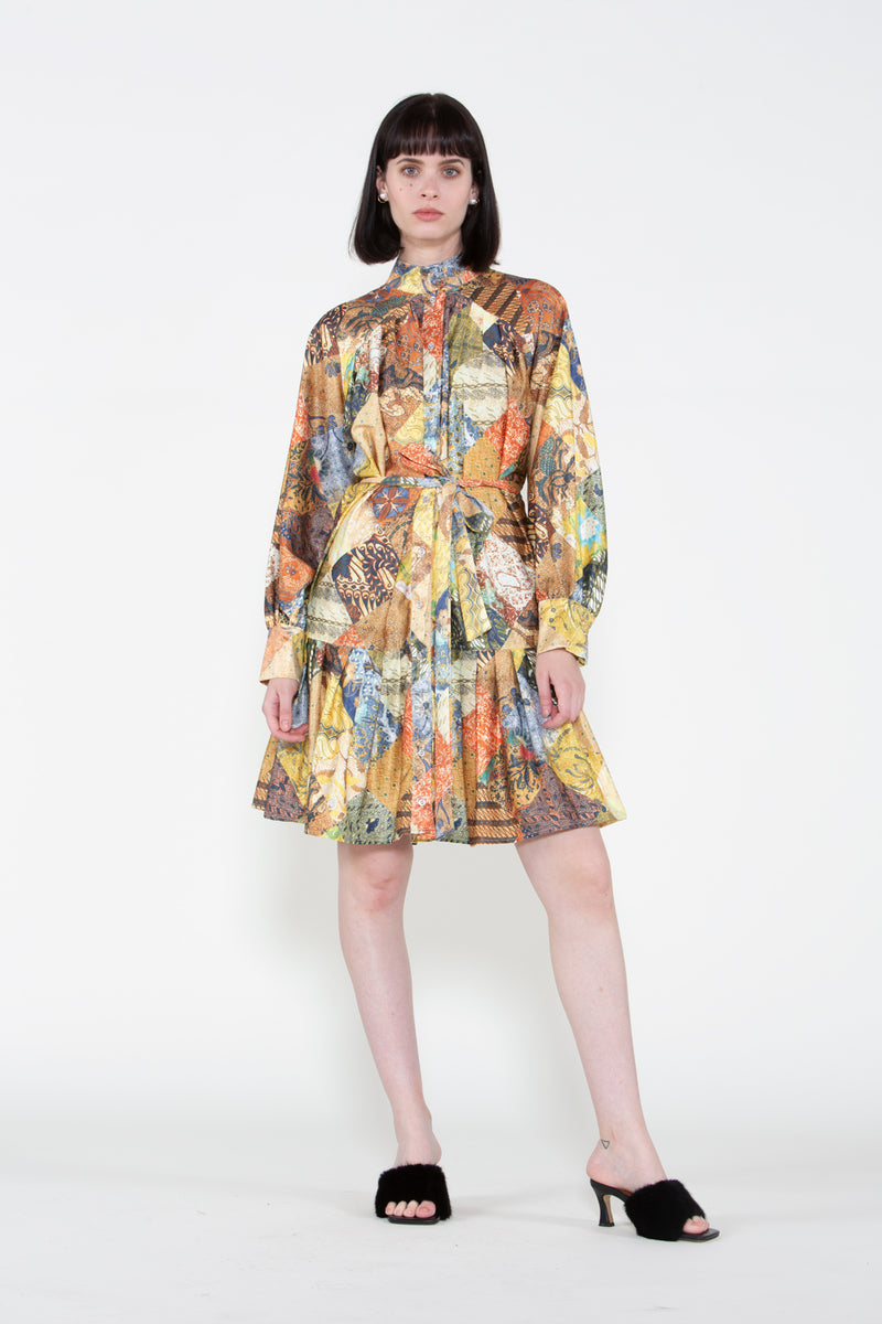Bishop Mock Neck Dress - Shop Beulah Style