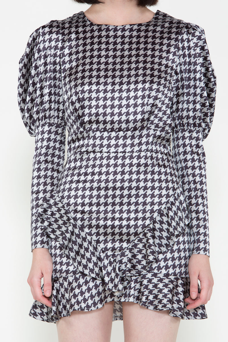 Houndstooth Juliette Mini Dress - Shop Beulah Style