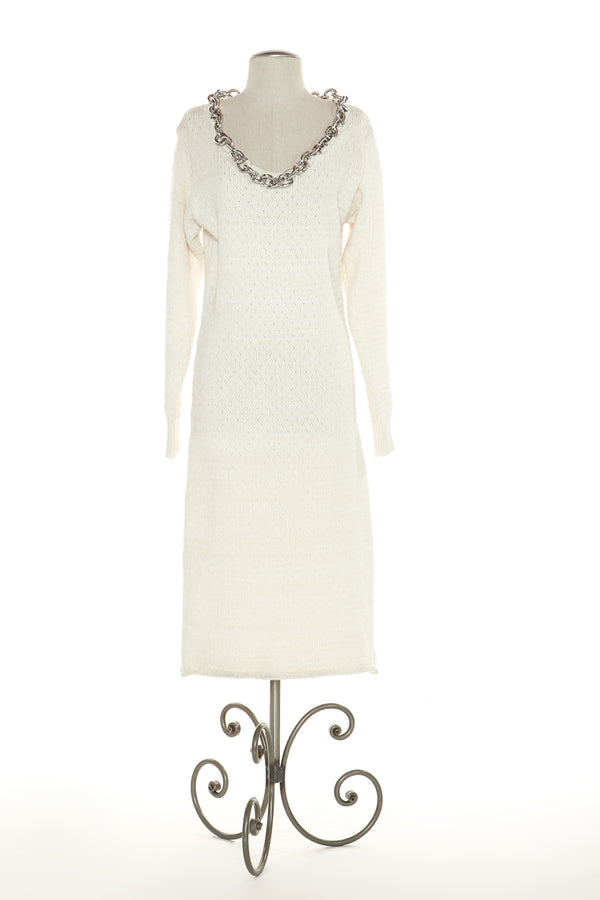 Chain-Trim Knit Dress - Shop Beulah Style