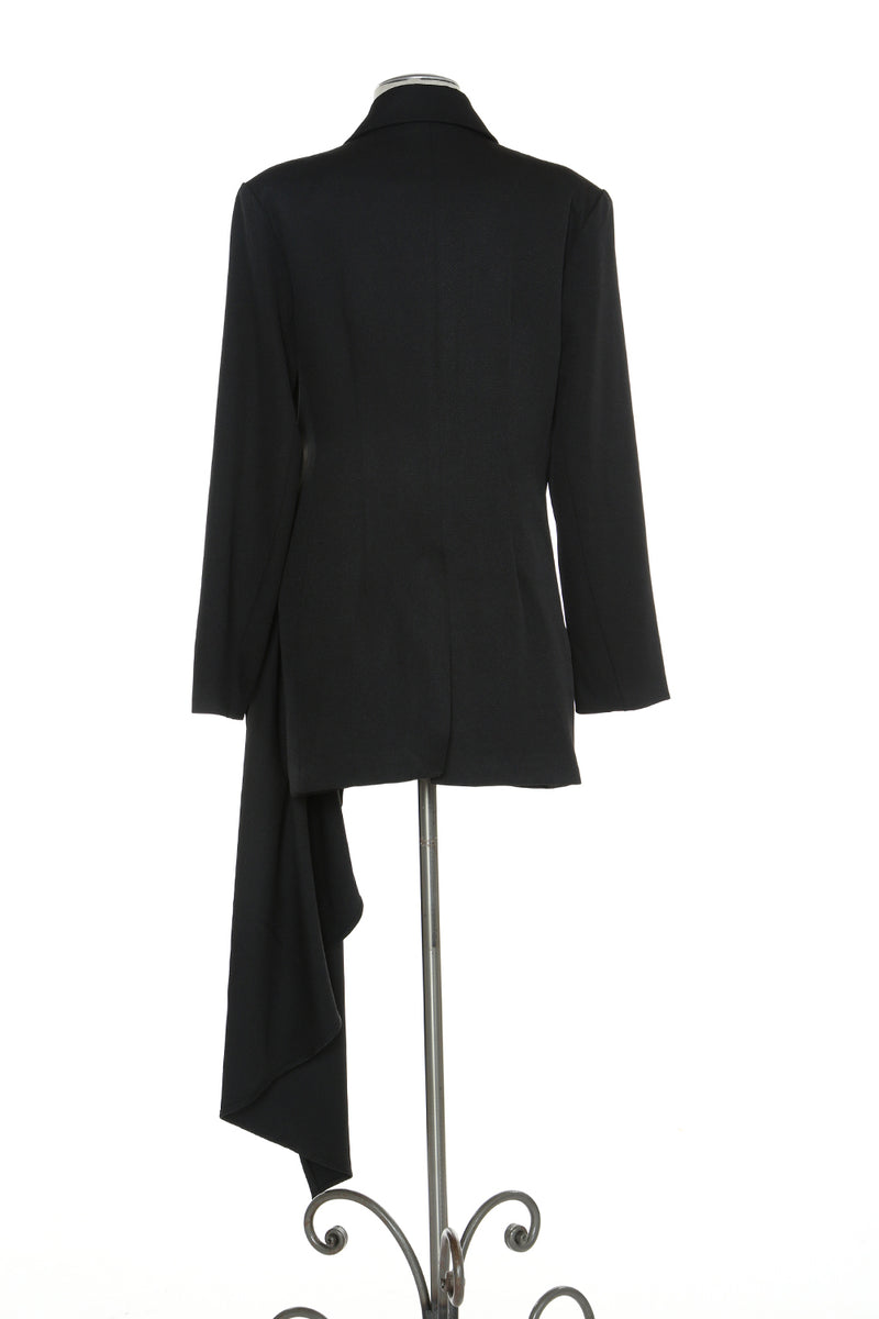 Asymmetric Draped Blazer - Shop Beulah Style