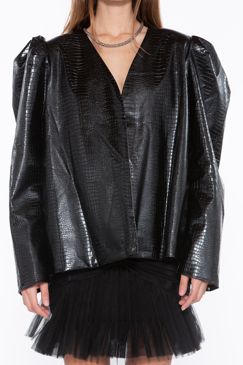 Leg O' Mutton Vegan Leather Jacket - Shop Beulah Style