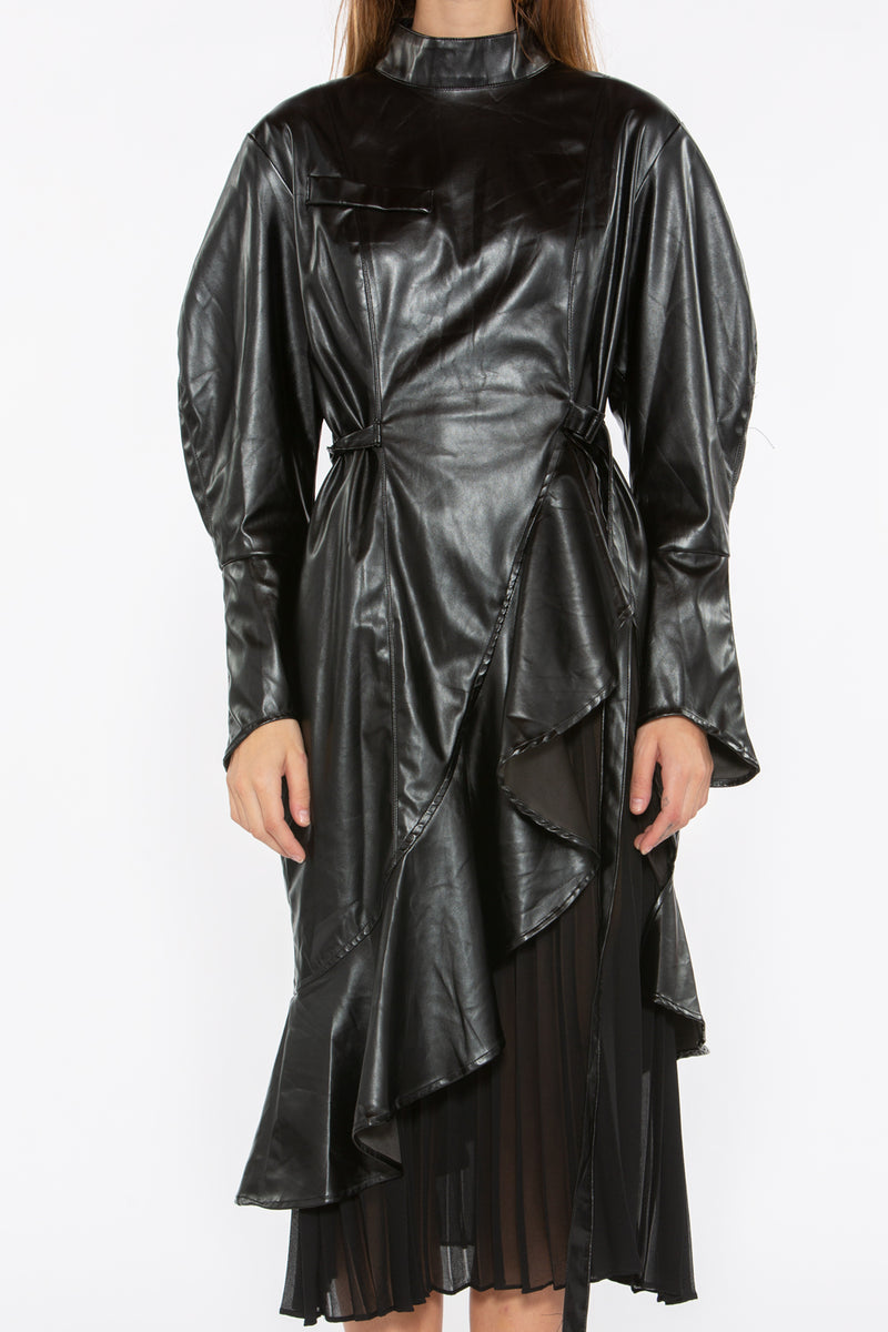 Dark Night Faux Leather Dress - Shop Beulah Style