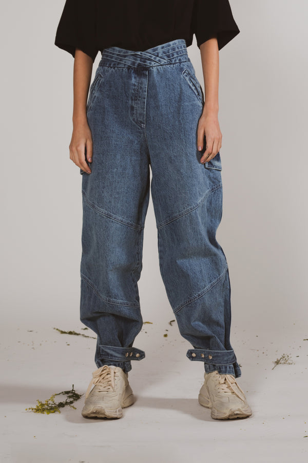 High Waisted Balloon Leg Jeans - Shop Beulah Style