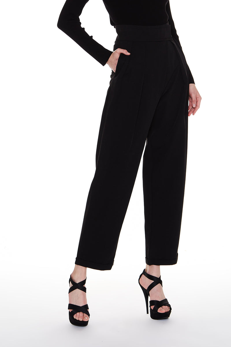 Front Pleats Fashion Pants - Shop Beulah Style