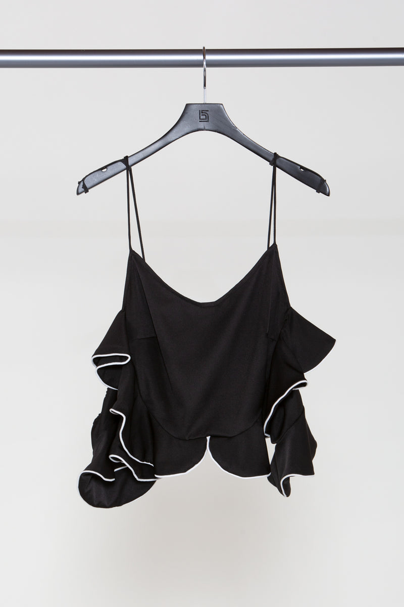 Ruffled Crop Camisole - Shop Beulah Style