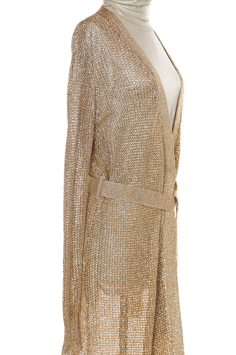 Metallic Yarn Cardigan - Shop Beulah Style
