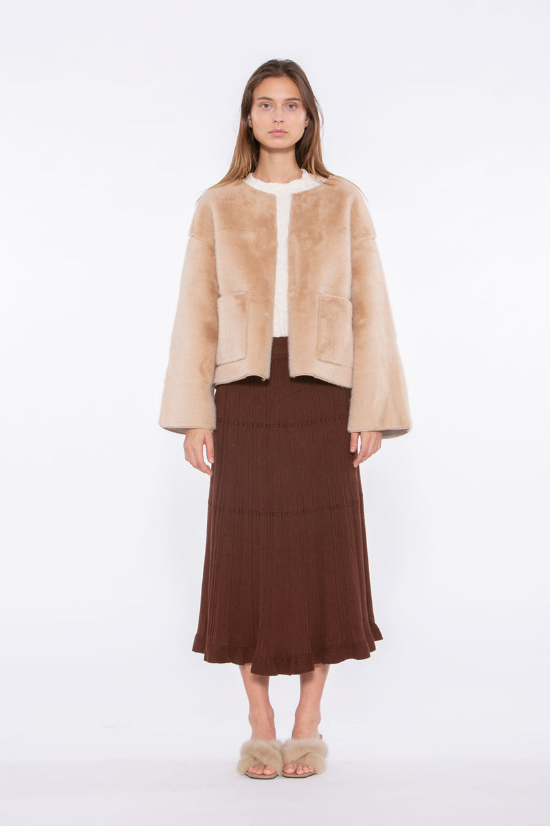 Faux Fur Cropped Jacket - Shop Beulah Style