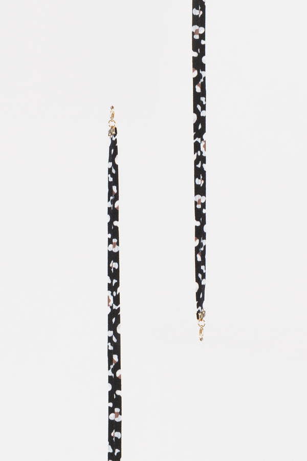 Black Leopard Mask Lanyard - Shop Beulah Style