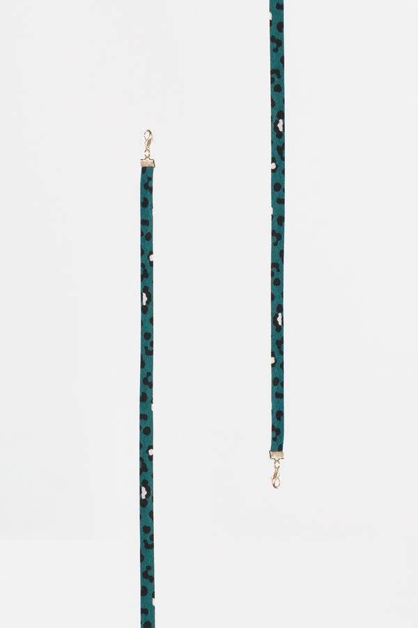 Green Leopard Mask Lanyard - Shop Beulah Style