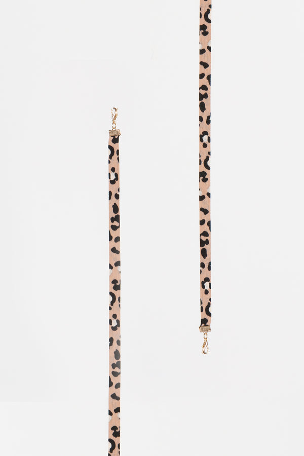Beige Leopard Mask Lanyard - Shop Beulah Style