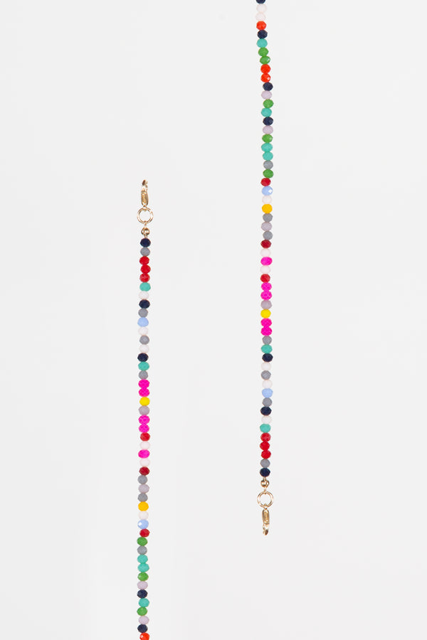 Rainbow Beaded Mask Chain - Shop Beulah Style