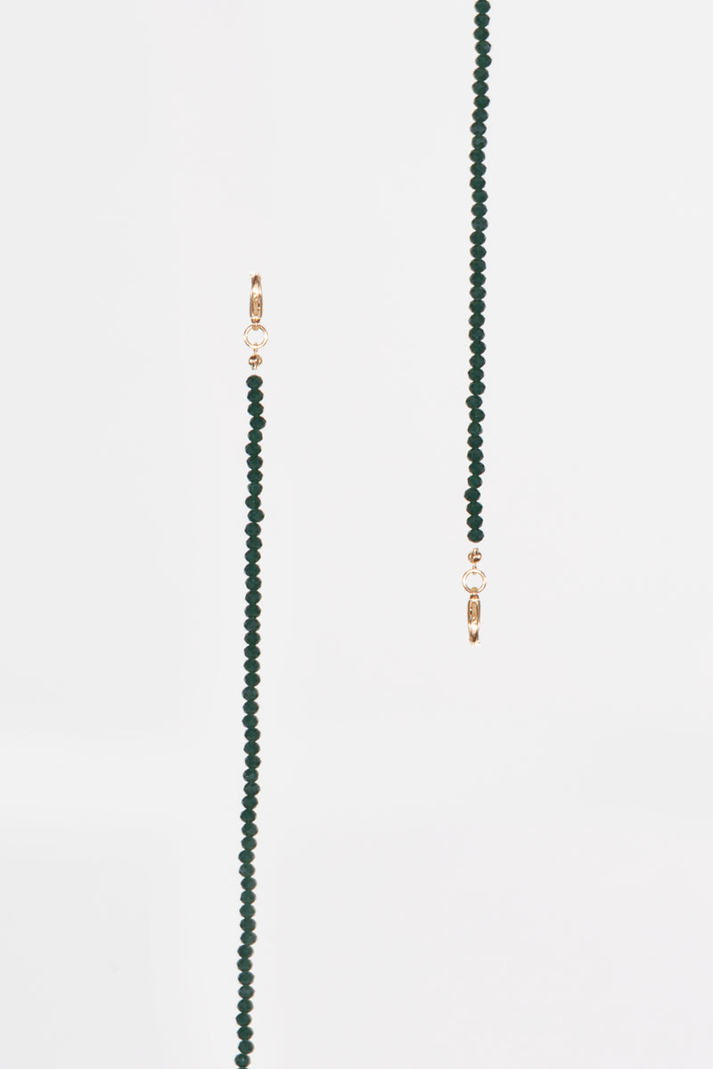 Green Beaded Mask Chain - Shop Beulah Style