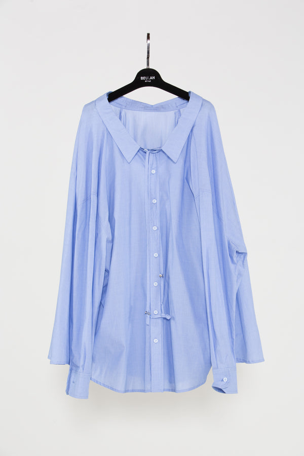 Light Blue Shirt Dress - Shop Beulah Style