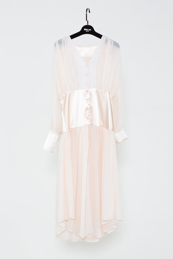 Mesh Lined Chiffon Dress - Shop Beulah Style