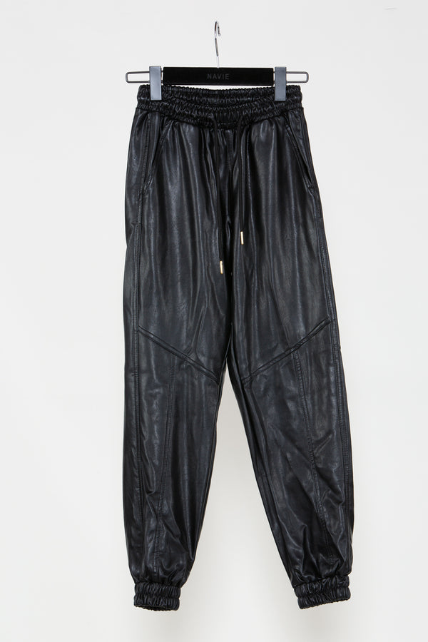 Vegan Leather Sweat Pants - Shop Beulah Style