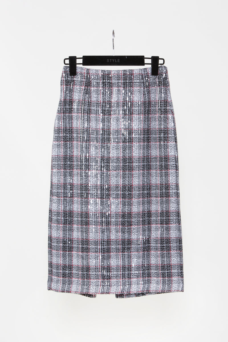 Plaid Sparkling Midi Skirt - Shop Beulah Style