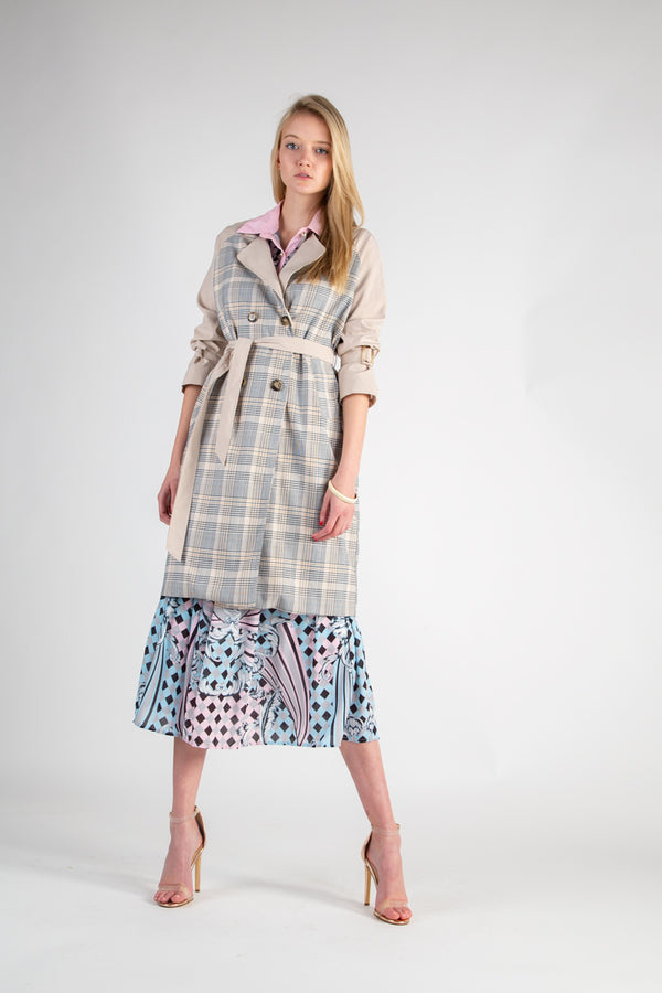 Plaid Notch Collar Coat - Shop Beulah Style