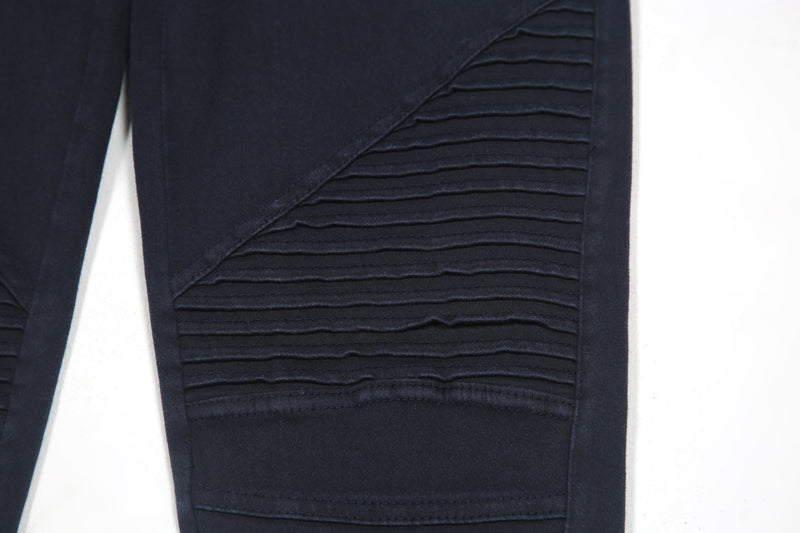 Pleated Detail Moto Jeggings - Shop Beulah Style