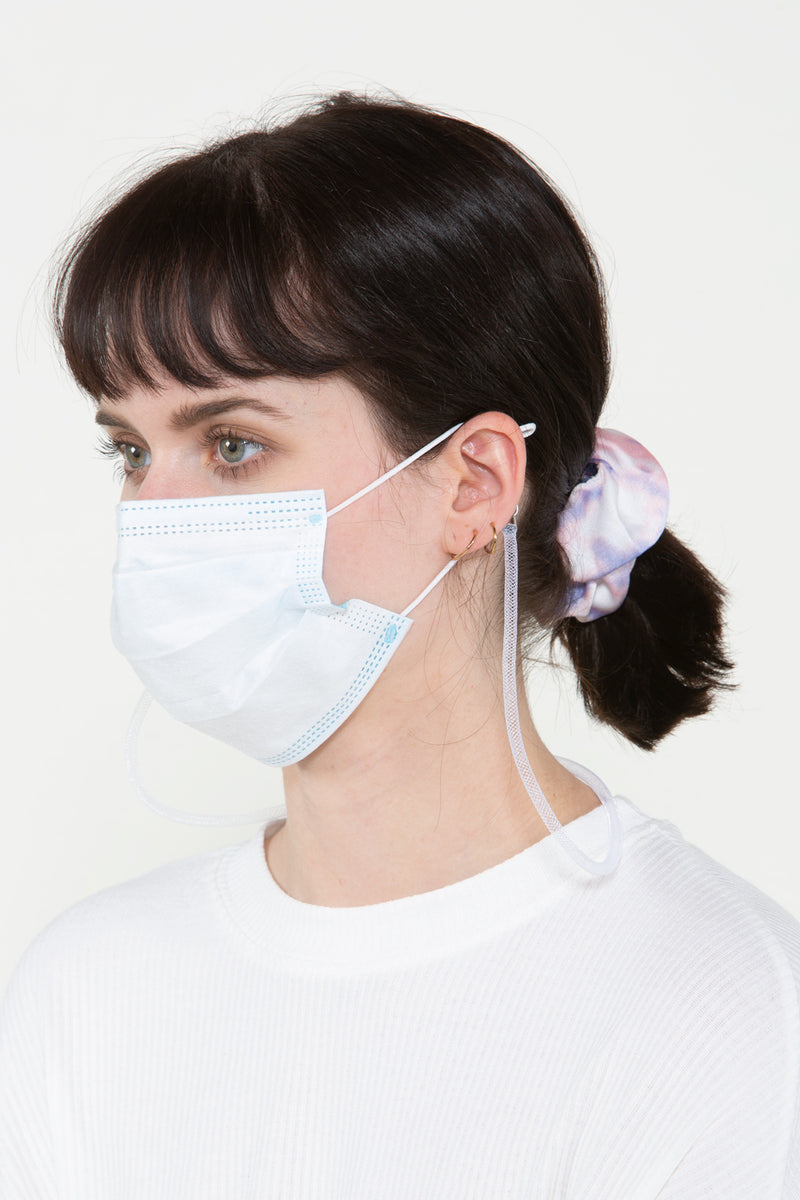 White Mesh Mask Chain - Shop Beulah Style