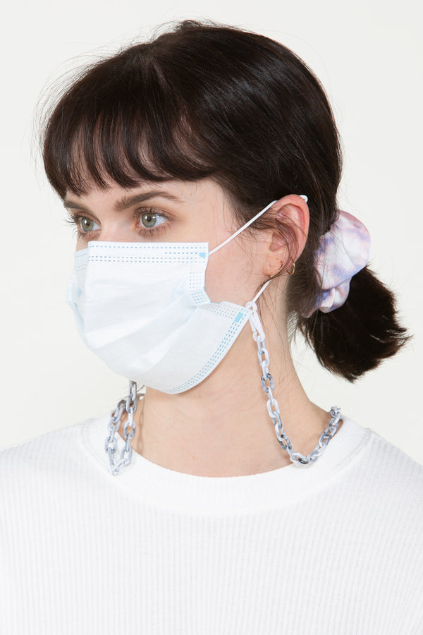 Grey Marble Chained Mask Chain - Shop Beulah Style