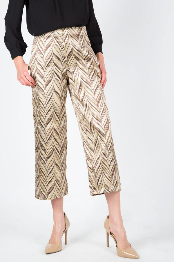 Chevron Jacquard Trousers - Shop Beulah Style