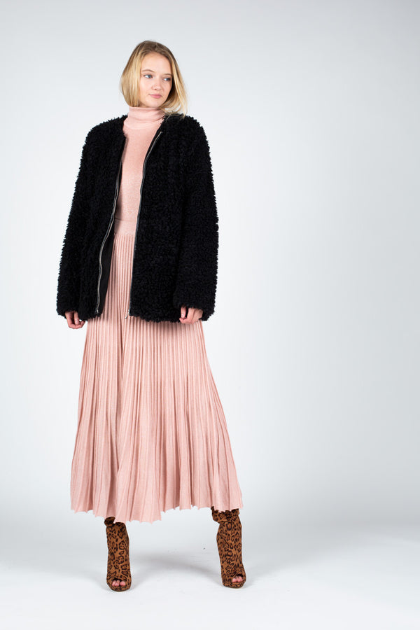 Shearling Fur Coat - Shop Beulah Style
