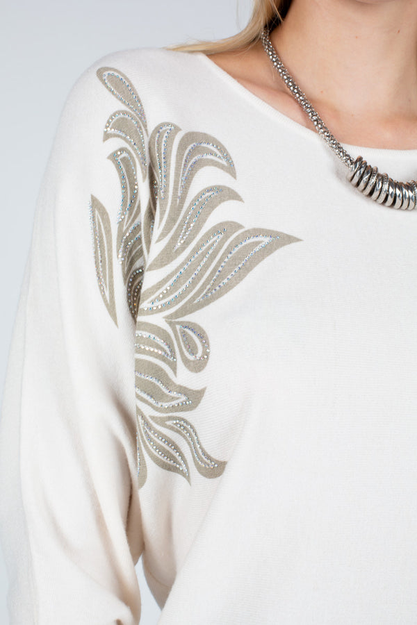 Embellished Knit Sweater Top - Shop Beulah Style