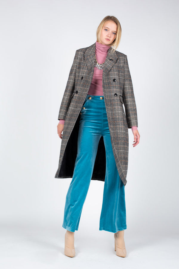 Double-breasted Wool Blend Coat - Shop Beulah Style