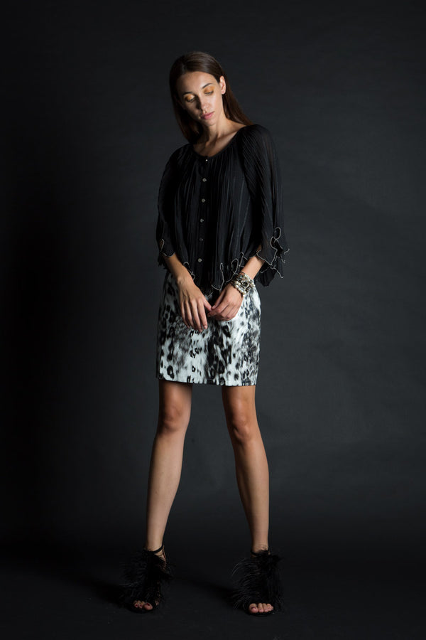 Animal Printed Faux Leather Skirt - Shop Beulah Style